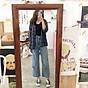 Quần Jeans Nữ Ống Rộng Phối Rách 270 4