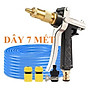Bộ dây vòi xịt nước rửa xe,tưới cây đa năng, tăng áp 3 lần,loại 7m,10m 206236 đầu đồng, cút,nối nhựa đen+ móc khoá thumbnail