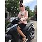 Áo khoác chống nắng nữ - Chống Tia UV (Có túi kéo khóa bên trong) - Hồng Cam Họa Tiết thumbnail