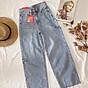 Quần Jeans Nữ Ống Rộng Phối Rách 270 2