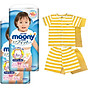Bộ 2 tã quần cao cấp bé gái Moony XL38 [Tặng bộ quần áo Nous 18-24m] thumbnail