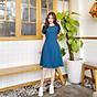 Đầm cổ Vich tay búp BEMINE MT1129XANH thumbnail