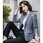 Áo khoác vest nữ caro phong cách Hàn Quốc NA66 5