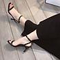 Sandal quai ngang gót mika bọc viền pha lê cực sang-sandal nữ, sandal nữ cao gót, sandal cao gót, sandal-gót mika bọc viền pha lê, 7cm 2