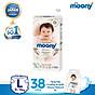 Tã dán Moony Natural L38 tặng hộp 4 miếng tã quần Moony Natural XL thumbnail