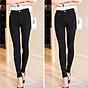 [ SIZE ĐẠI 60kg 90kg] Quần jean dài đen tuyền big size co dãn mạnh vải jean mềm lưng cao 2700 có rách gối 2