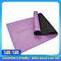 Thảm yoga định tuyến cao su PU dày 5mm (tặng túi đựng + Dây buộc thảm) thumbnail