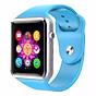 Đồng hồ thông minh A1 màu xanh dương tặng kèm sim cho đồng hồ thumbnail