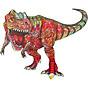 Bộ xếp hình gỗ đồ chơi puzzle ghép hình con vật, bộ xếp hình trí tuệ, quà tặng bạn bè - Khủng long thumbnail