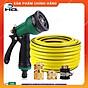 Vòi xịt rửa xe,Vòi phun nước tưới cây tăng áp thông minh 8 chế độ 815498 (cút đồng,nối đồng - dây vàng) thumbnail