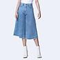 Quần Jean Nữ Ống Rộng Lưng Cao Cullottes Jeans Aaa Jeans Màu Xanh True Blue thumbnail
