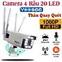 Camera wifi yoosee ngoài trời 20 LED 4 râu thân xoay Full HD 1080P Quay đêm có màu, Chống Nước đàm thoại 2 chiều , App ngôn ngữ tiếng Việt - Hàng Nhập Khẩu thumbnail