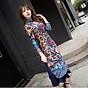 Set áo dài cách tân kèm váy thổ cẩm BY2004A 2