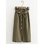 Chân váy nữ thời trang dáng dài kèm dây đai thắt nơ vải kaki cao cấp free size VAY03 thumbnail