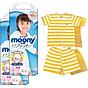 Bộ 2 tã quần cao cấp bé gái Moony XXL26 [Tặng bộ quần áo Nous 18-24m] thumbnail