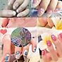 Combo 10 tấm decal dán móng nghệ thuật Nail art Enjoy J350 3