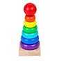 Combo 7 món đồ chơi cho bé phát triển trí tuệ (Đàn gỗ, tháp gỗ, luồn hạt, sâu gỗ, đồng hồ gỗ, thả hình 4 trụ, lục lạc tròn ) 3