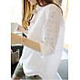 Áo sơ mi nữ tay ren hoa, chất thô mềm, thời trang công sở, phong cách Hàn Quốc thumbnail