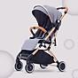 Xe đẩy du lịch siêu nhẹ hợp kim nhôm chịu lực, xe đẩy em bé, xe đẩy gấp gọn (xám) thumbnail