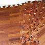 Thảm xốp ghép vân gỗ màu sậm bộ 6 miếng kích thước 60x60cm thumbnail