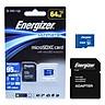 Thẻ Nhớ Micro SDXC Energizer 64GB Class 10 Up To 95mb/s (Kèm Adapter) FMDAAU064A - Hàng Chính Hãng
