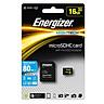 Thẻ Nhớ Energizer 16GB Micro SDHC Class 10 Up To 80mb/s (Kèm Adapter) FMDABH016A - Hàng Chính Hãng