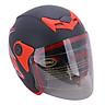 Mũ Bảo Hiểm Napoli Tem Bọ Cạp Màu Đỏ N039-RED-KK (Kính Khói) - Size L