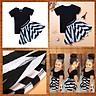 2pcs Baby Girls Clothes T-shirt + Striped Skirt Set Kid Summer Dress Outfit