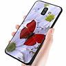 Ốp kính cường lực cho điện thoại Samsung Galaxy J8 - bướm đẹp MS ANH040