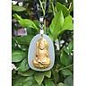 Dây chuyền Phật Bất Động Minh Vương Mặt Ngọc Nerphrite Mạ vàng 24K  Cho Nam Tuổi Dậu Mệnh Kim TEN1