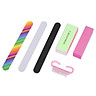 6PCS/Set Nail Manicure Kit Brush Buffer Grit Sand Nail Art Accessories Sanding Nail Files UV Gel Polish Tools