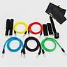 Dây đàn hồi tập Gym S2-11X, dây tập thể lực 5 màu - Bộ 11 chi tiết, dây tập kháng lực 100LB tiêu chuẩn - POKI