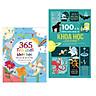 Combo 2 cuốn sách thiếu nhi hay về kiến thức khoa học: 100 Bí Ẩn Đáng Kinh Ngạc Về Khoa Học  + 365 Trò Chơi Khoa Học Khó Mà Dễ Dễ Mà Khó  ( Tặng kèm Bookmark Happy Life)
