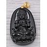 Mặt dây chuyền Phật Như lai Đại nhật thạch anh đen 4.3cm phật bản mệnh dành cho người tuổi Mùi, Thân