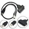 USB 2.0 to 2.5inch 22 7+15 Serial ATA SATA 2.0 HDD/SSD Converter Cable Adapter