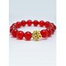 Vòng tay đá mã não đỏ mix hoa sen MS213 hợp mệnh Hỏa, Thổ, Thủy cho nữ và nam