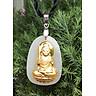 Dây chuyền Mặt Ngọc Nerphrite Mạ vàng 24K Phật Bất Động Minh Vương -Nam Tuổi Dậu Mệnh Mộc MAN1