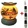 3 tinh dầu quế Eco 10ml và đèn xông tinh dầu MNB01 và 1 bóng đèn