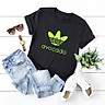 Casual Women Cotton T-Shirt Avocado Letter Print Short Sleeve O-Neck Funny Cute Tee Tops