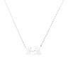 Fashion Women Love Heart Palm Pendant Chain Necklace Jewelry Party Gift