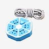 Ổ Cắm Điện Lục Giác 220VAC 10A 1.5m Cổng Sạc USB