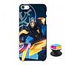 Ốp lưng nhựa dẻo dành cho iPhone 5S tặng popsocket in logo iCase - in hình Nakroth Siêu Việt Bậc V