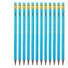 Hộp 12 chiếc Bút chì lục giác 2B Deli 37000 Bút chì gỗ màu phối Vàng, Xanh, Hồng, Xanh Lá/ Sọc Trắng