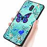 Ốp kính cường lực cho điện thoại Samsung Galaxy J8 - bướm đẹp MS ANH026