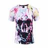 Skull T shirt Skeleton T-shirt gun Tshirt Gothic shirts Punk Tee vintage rock t shirts 3d t-shirt anime male styles BL-420