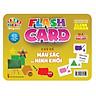Flash card Theo phương pháp giáo dục sớm của Glenn Doman – Thẻ học thông minh (song ngữ Anh Việt) - Chủ đề: Màu sắc và Hình khối