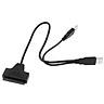 USB 2.0 to 2.5inch 22 7+15 Serial ATA SATA 2.0 HDD/SSD Adapter Converter Cable
