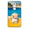 Ốp lưng nhựa cứng nhám dành cho LG G2 in hình Heo Tắm Bể Bơi