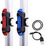 Combo 2 Đèn cảnh báo xe đạp 5 bóng LED giúp đạp xe an toàn ban đêm 4 chế độ sáng (Đèn Đỏ và Xanh)