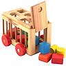 Xe  thả khối nhiều màu sắc  bằng gỗ Mykids